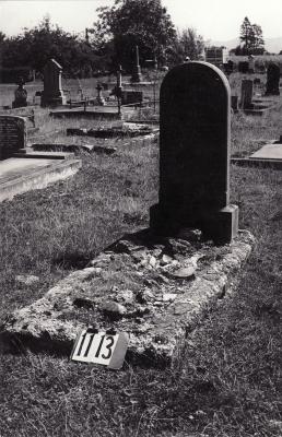 Historic picture of Makaraka cemetery, block MKF, plot 1113.