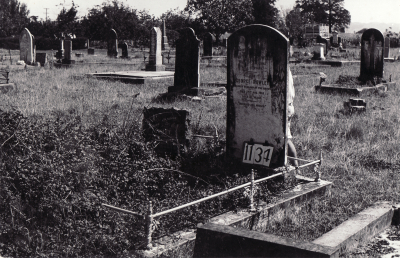 Historic picture of Makaraka cemetery, block MKF, plot 1134.
