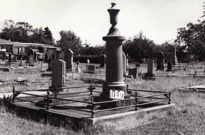 Historic picture of Makaraka cemetery, block MKF, plot 1149.