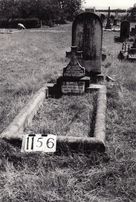 Historic picture of Makaraka cemetery, block MKF, plot 1156.