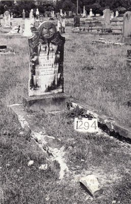 Historic picture of Makaraka cemetery, block MKF, plot 1294.