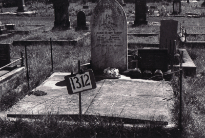 Historic picture of Makaraka cemetery, block MKF, plot 1312.