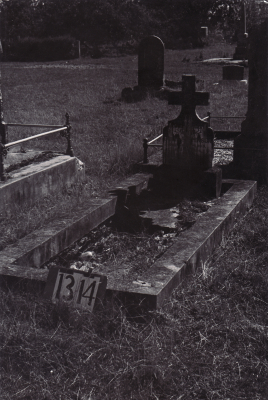Historic picture of Makaraka cemetery, block MKF, plot 1314.