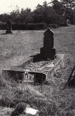 Historic picture of Makaraka cemetery, block MKF, plot 1316.