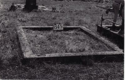 Historic picture of Makaraka cemetery, block MKF, plot 1345.