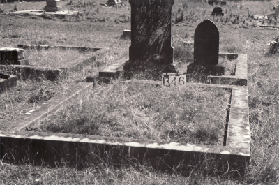 Historic picture of Makaraka cemetery, block MKF, plot 1346.