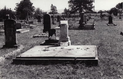 Historic picture of Makaraka cemetery, block MKF, plot 980.