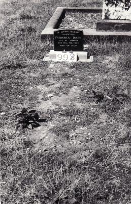 Historic picture of Makaraka cemetery, block MKF, plot 998.