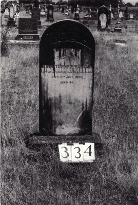 Historic picture of Makaraka cemetery, block MKG, plot 334.