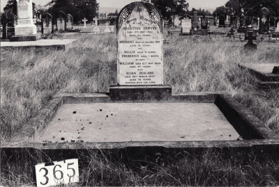 Historic picture of Makaraka cemetery, block MKG, plot 365.