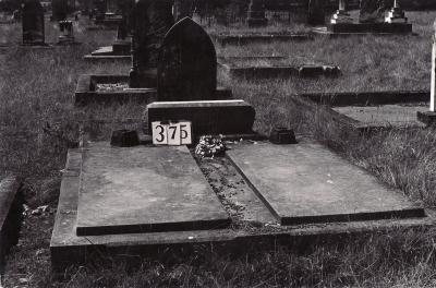 Historic picture of Makaraka cemetery, block MKG, plot 375.