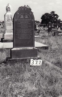 Historic picture of Makaraka cemetery, block MKG, plot 377.