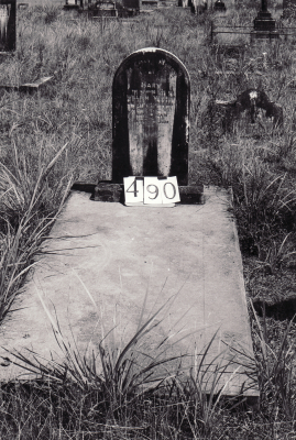 Historic picture of Makaraka cemetery, block MKG, plot 490.