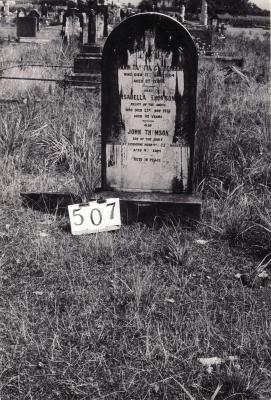 Historic picture of Makaraka cemetery, block MKG, plot 507.