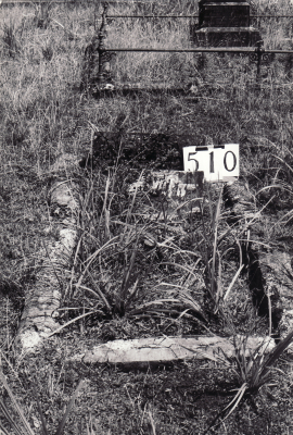 Historic picture of Makaraka cemetery, block MKG, plot 510.