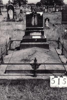 Historic picture of Makaraka cemetery, block MKG, plot 515.