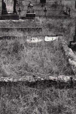 Historic picture of Makaraka cemetery, block MKG, plot 532.