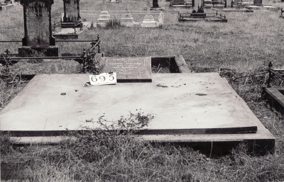 Historic picture of Makaraka cemetery, block MKG, plot 695.