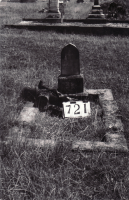 Historic picture of Makaraka cemetery, block MKG, plot 721.