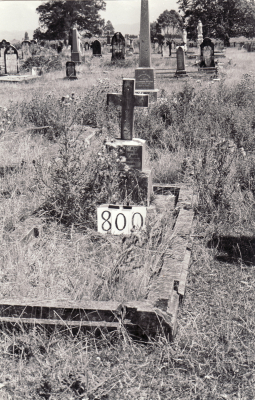 Historic picture of Makaraka cemetery, block MKG, plot 800.