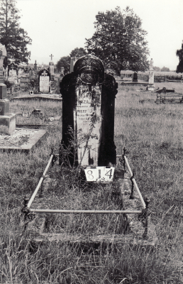 Historic picture of Makaraka cemetery, block MKG, plot 814.