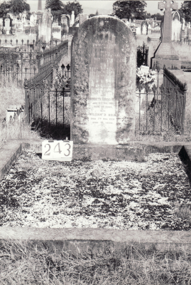Historic picture of Makaraka cemetery, block MKH, plot 243.