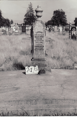 Historic picture of Makaraka cemetery, block MKH, plot 246.