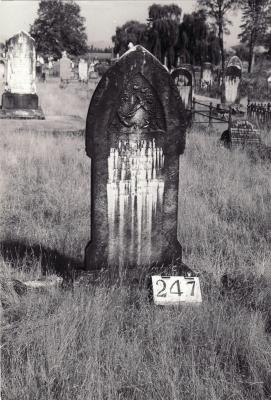 Historic picture of Makaraka cemetery, block MKH, plot 248.