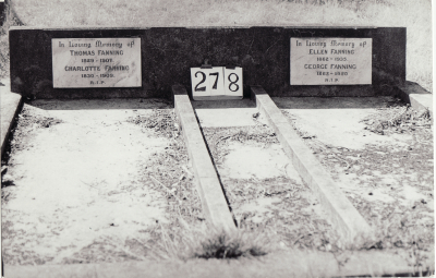 Historic picture of Makaraka cemetery, block MKH, plot 277.
