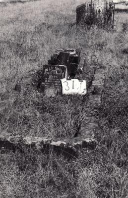 Historic picture of Makaraka cemetery, block MKH, plot 311.