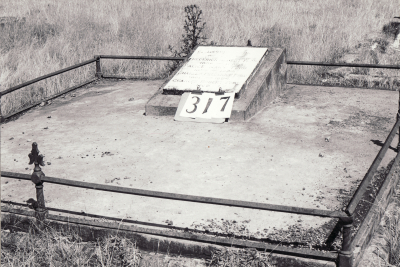 Historic picture of Makaraka cemetery, block MKH, plot 317.