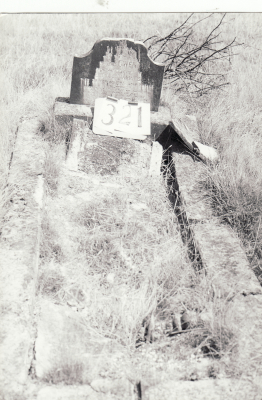 Historic picture of Makaraka cemetery, block MKH, plot 321.