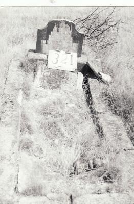 Historic picture of Makaraka cemetery, block MKH, plot 321.
