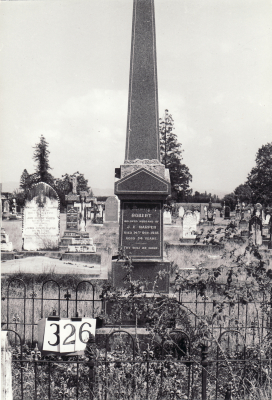 Historic picture of Makaraka cemetery, block MKH, plot 326.