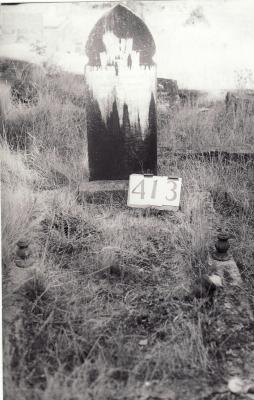 Historic picture of Makaraka cemetery, block MKH, plot 413.