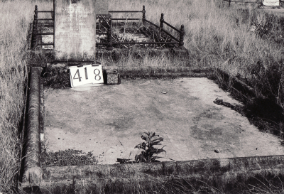 Historic picture of Makaraka cemetery, block MKH, plot 418.