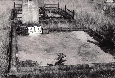 Historic picture of Makaraka cemetery, block MKH, plot 418.