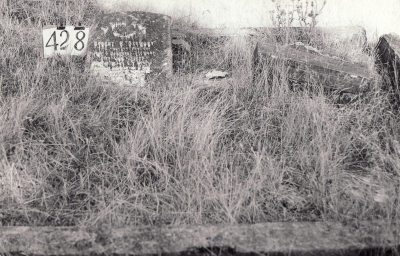 Historic picture of Makaraka cemetery, block MKH, plot 428.
