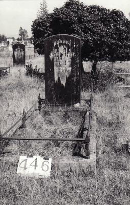 Historic picture of Makaraka cemetery, block MKH, plot 446.