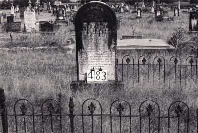 Historic picture of Makaraka cemetery, block MKH, plot 483.