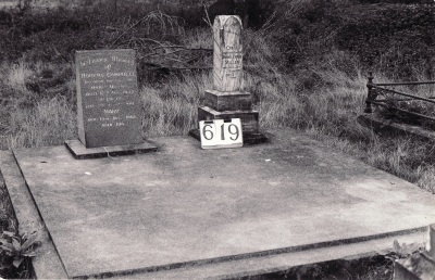 Historic picture of Makaraka cemetery, block MKI, plot 619.