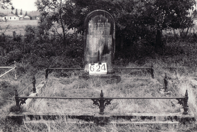 Historic picture of Makaraka cemetery, block MKI, plot 624.