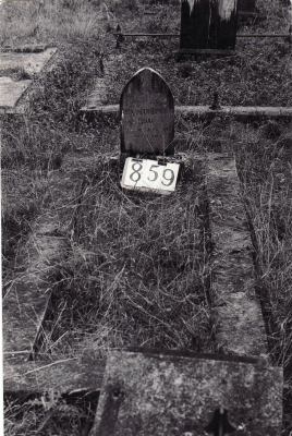 Historic picture of Makaraka cemetery, block MKI, plot 859.