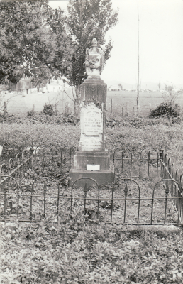 Historic picture of Makaraka cemetery, block MKI, plot 863.