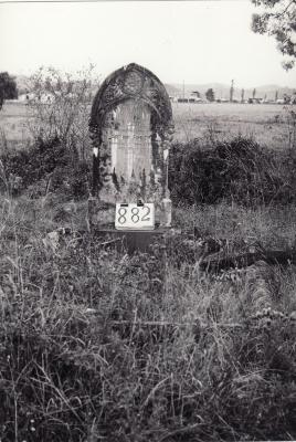 Historic picture of Makaraka cemetery, block MKI, plot 882.