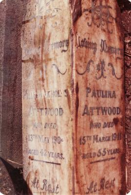 Historic picture of Makaraka cemetery, block MKJ, plot 855.