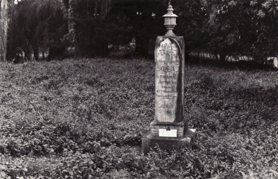 Historic picture of Makaraka cemetery, block MKJ, plot 855.