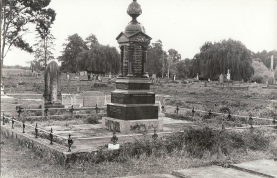 Historic picture of Makaraka cemetery, block MKL, plot D.