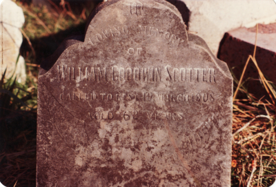 Historic picture of Makaraka cemetery, block MKM, plot 1087.