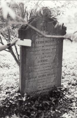 Historic picture of Makaraka cemetery, block MKOLD, plot 17.